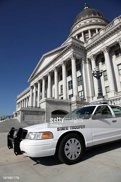 State Trooper Police Car in front of Office Capitol Building