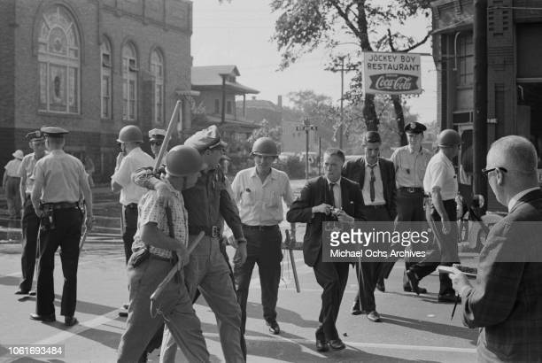 State troopers are called to the 16th Street Baptist Church, headquarters of the Birmingham Campaign in Birmingham, Alabama, May 1963. The movement,...
