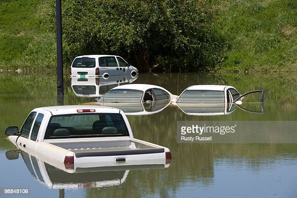 State vehicles are stranded in a parking lot May 4 2010 in Nashville Tennessee More than 13 inches of rain fell over two days over Nashville more...