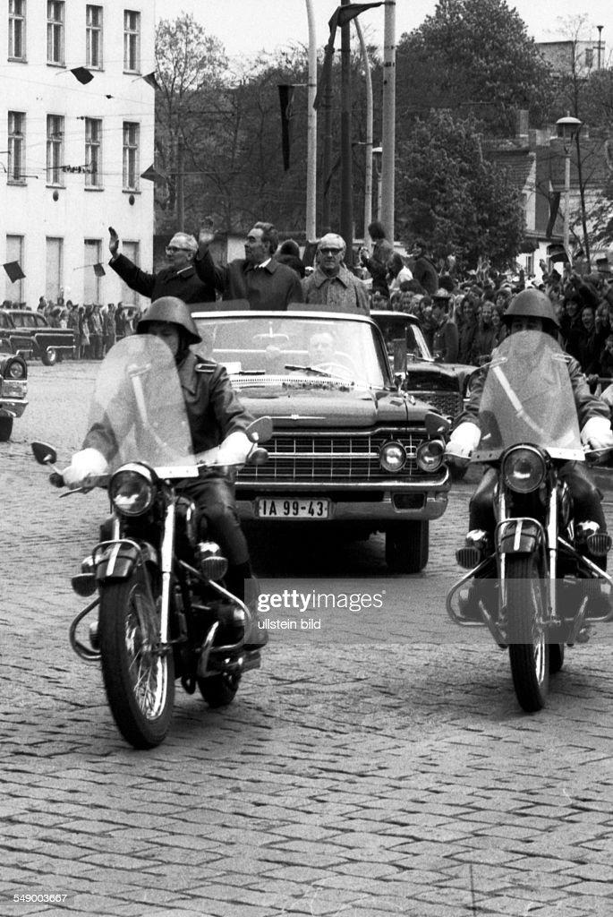 GDR: State visit of Leonid Brezhnev : News Photo