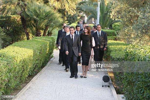 State visit of Nicolas Sarkozy and Carla Bruni Sarkozy in Tunisia Speech of French Republic President Nicolas Sarkozy in front of the French...
