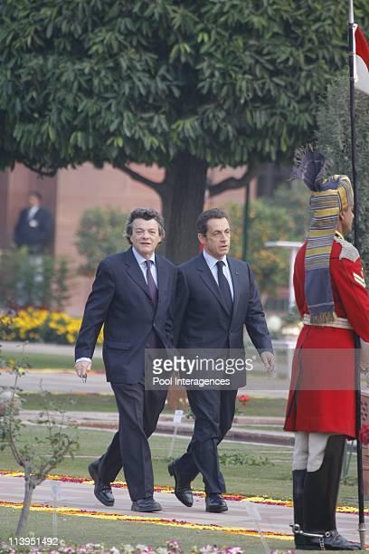 State visit of the President Nicolas Sarkozy in New Delhi India on January 26 2008French President Nicolas Sarkozy inspects the Guard of Honour...