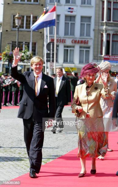 State Visit To Belgium Of Queen Beatrix Of The Netherlands Accompanied By Crown Prince WillemAlexander Crown Princess MaximaOfficial Welcome At The...