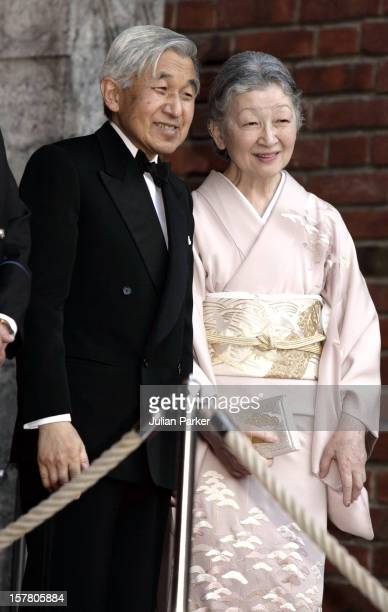 State Visit To Norway By Their Majesties Emperor Akihito Empress Michiko Of JapanTheir Majesties Host A Reception At Oslo City Hall Attended By Queen...