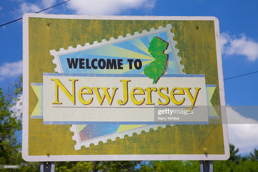 State welcoming sign, New Jersey : Stock Photo