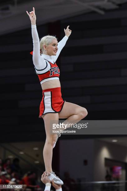 State Wolfpack Cheerleader during the 2019 Div 1 Championship - Second Round college basketball game between the Kentucky Wildcats and the NC State...