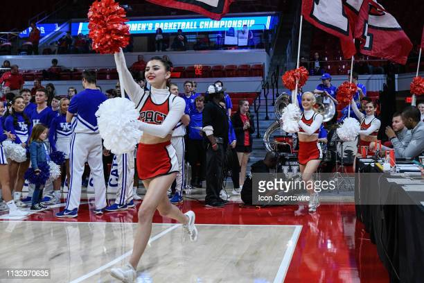 State Wolfpack Cheerleaders bring the team onto the court during the 2019 Div 1 Championship - Second Round college basketball game between the...