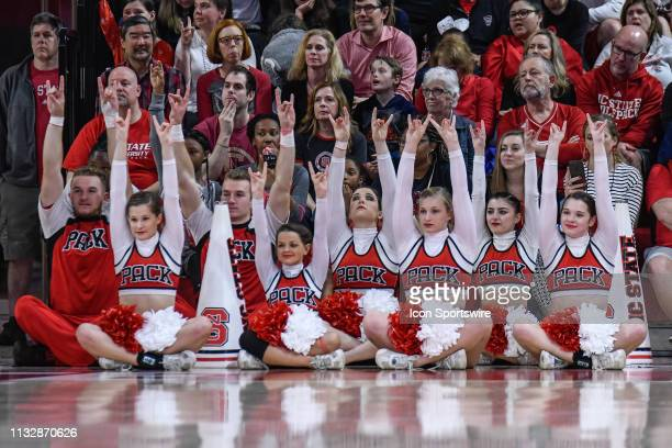 State Wolfpack Cheerleaders during the 2019 Div 1 Championship - Second Round college basketball game between the Kentucky Wildcats and the NC State...