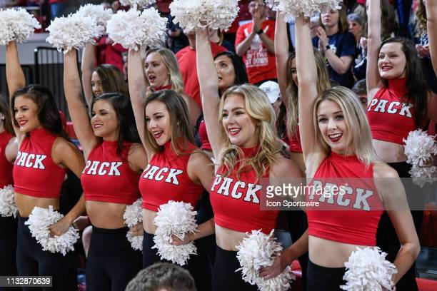 State Wolfpack Dance Squad during the 2019 Div 1 Championship - Second Round college basketball game between the Kentucky Wildcats and the NC State...