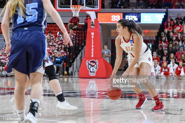 State Wolfpack guard Aislinn Konig during the 2019 Div 1 Women's Championship First Round college basketball game between the Maine Black Bears and...