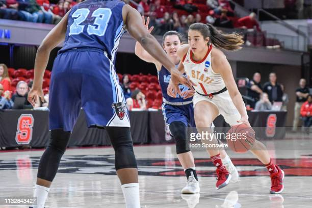 State Wolfpack guard Aislinn Konig takes the ball to the basket during the 2019 Div 1 Women's Championship First Round college basketball game...