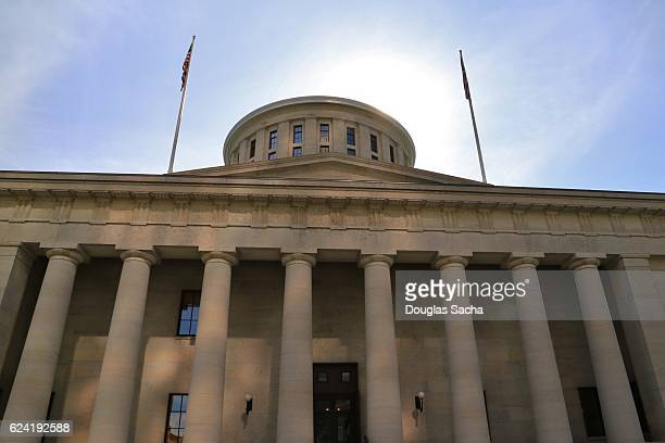 statehouse building in columbus, ohio, united states - ohio statehouse stock pictures, royalty-free photos & images