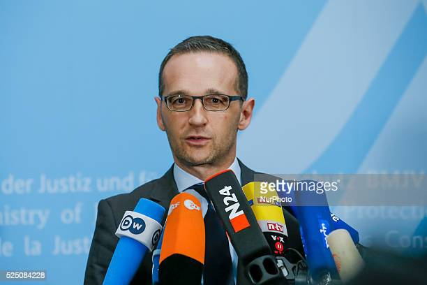 Statement of the German Minister of the justice Heiko Maas on the subject 'Pegida' at Federal Ministry of the justice on December 15 2014 in Berlin...
