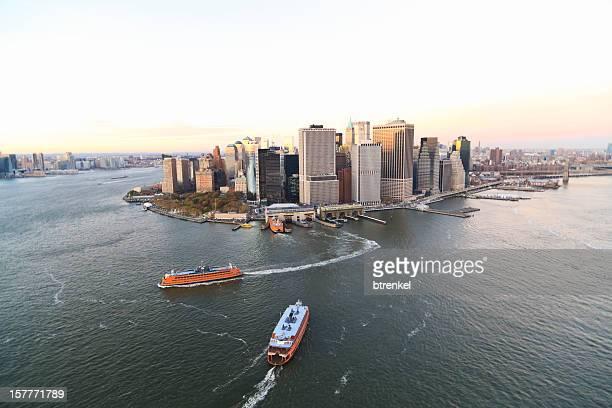Ferry de Staten Island em Lower Manhattan