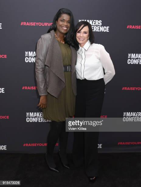 State's Attorney Cook County Kim Foxx and Marcia Clark attend The 2018 MAKERS Conference at NeueHouse Hollywood on February 7 2018 in Los Angeles...