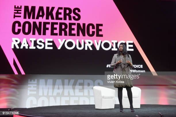 State's Attorney Cook County Kim Foxx speaks onstage during The 2018 MAKERS Conference at NeueHouse Hollywood on February 7 2018 in Los Angeles...