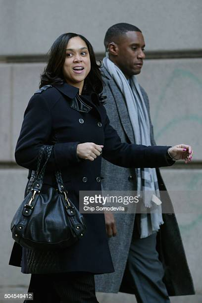 State's Attorney for Baltimore Marilyn Mosby arrives at the Mitchell CourthouseWest for jury selection in Baltimore Police officer Caesar Goodson's...