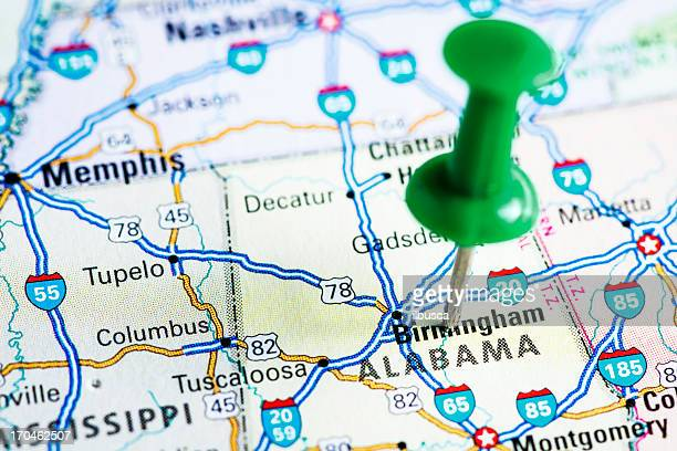 usa states on map: alabama - alabama us state stock photos and pictures