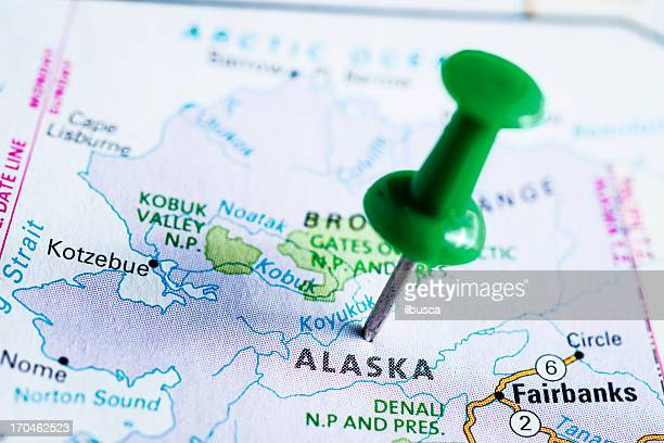 usa states on map: alaska - alaska us state stock pictures, royalty-free photos & images