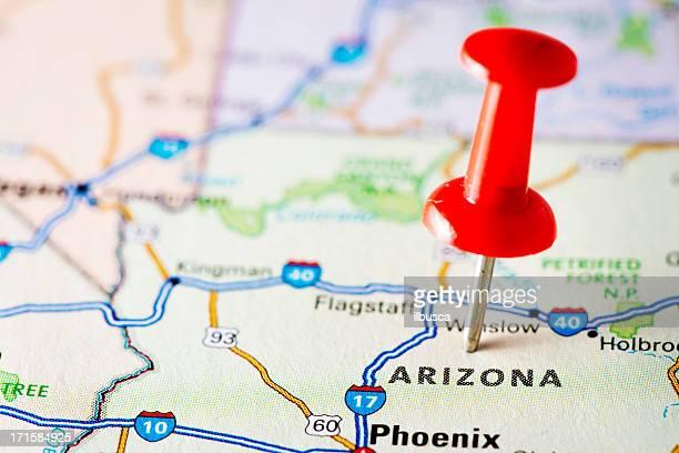 USA states on map: Arizona