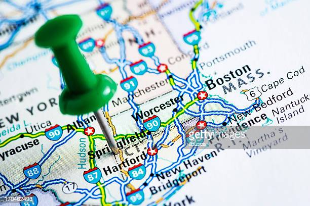 USA states on map: Connecticut