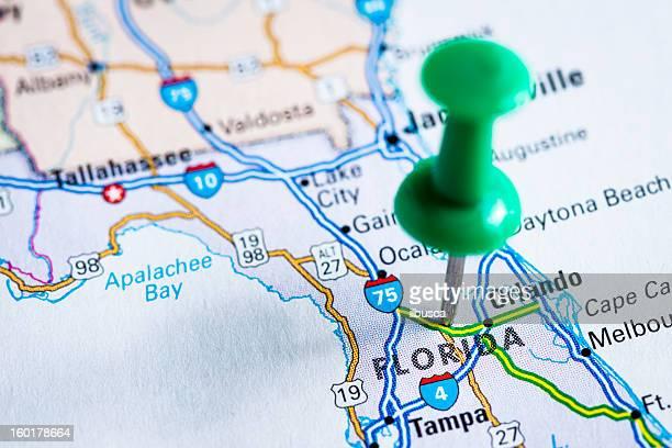USA states on map: Florida