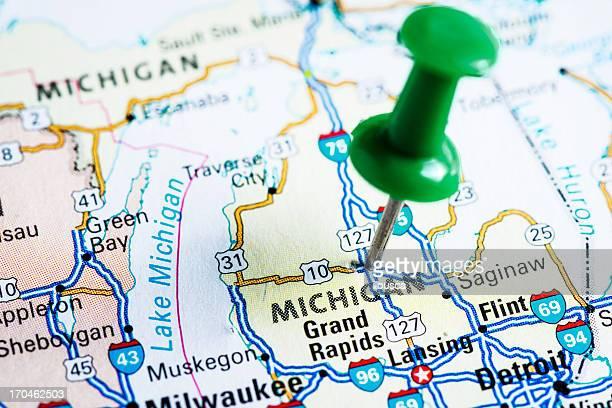 USA states on map: Michigan