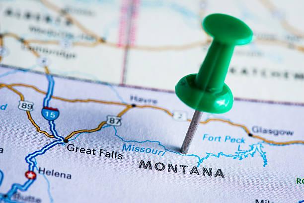 USA States On Map: Montana Wall Art