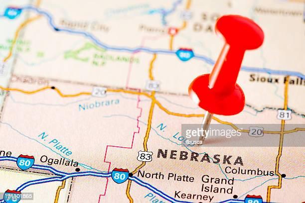 USA states on map: Nebraska
