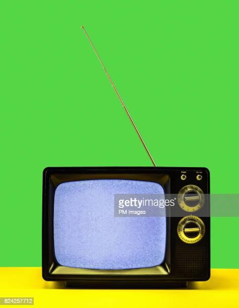 Static on vintage TV