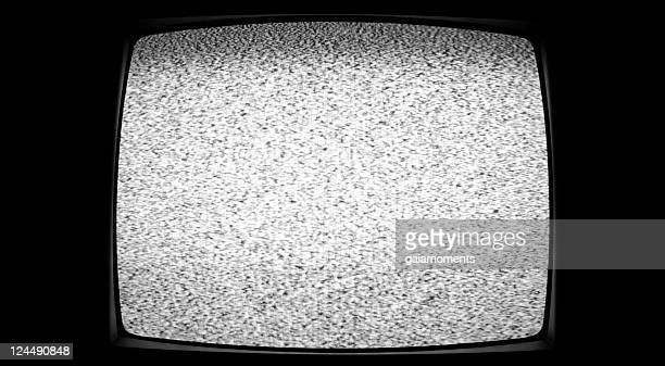 tv static - white noise stock photos and pictures