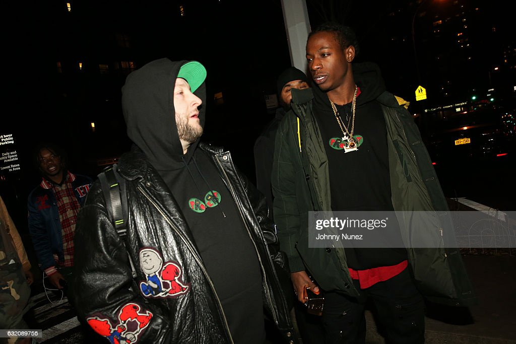 Statik Selektah and Joey Bada$$ arrive at Yams Day With A$AP Rocky at Madison Square Garden on January 18, 2017 in New York City.