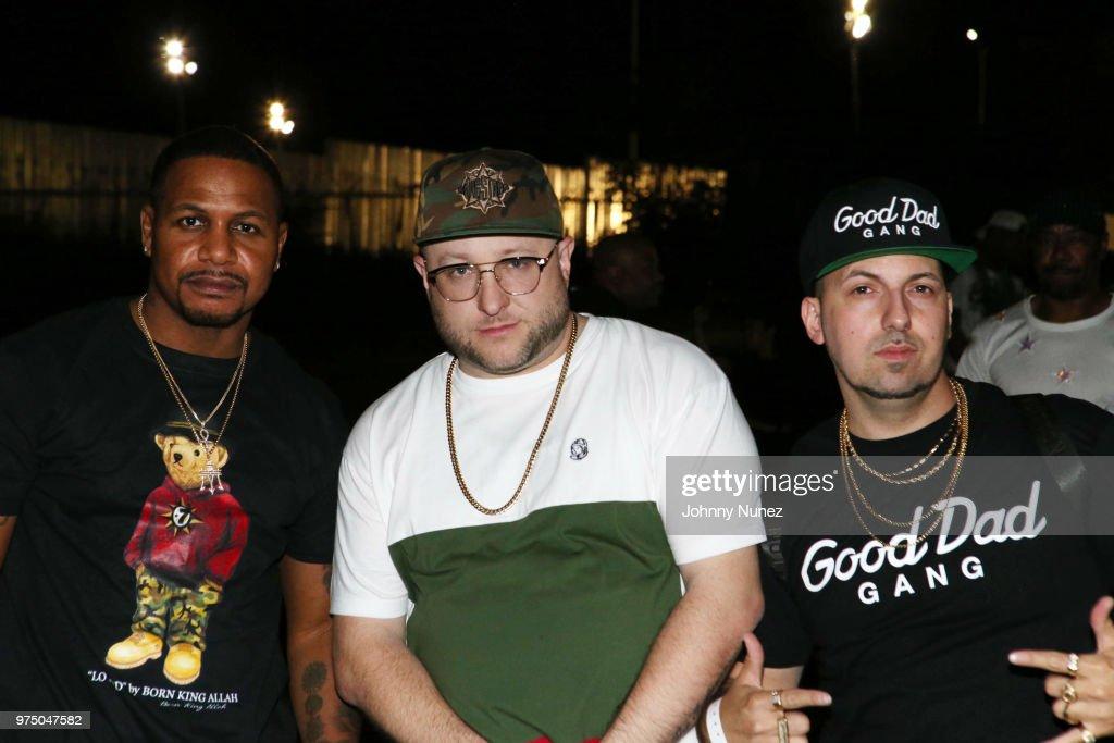 AZ, Statik Selektah, and Termanology attend the Nas