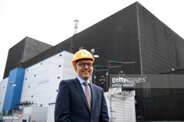 Station director Markus Willicks outside Brunsbuettel nuclear power station in Brunsbuettel Germany 22 August 2017 The station was disconnected from...