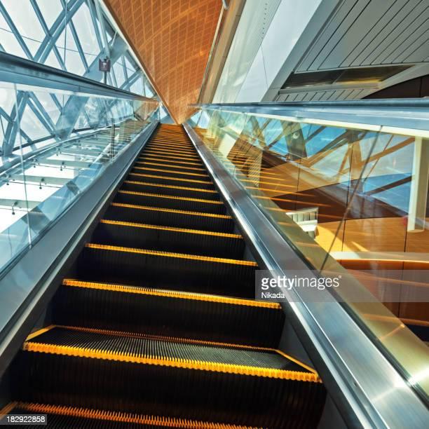 Station escalator in Dubai, United Arab Emirates