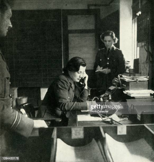 Station Intelligence Room', circa 1943. The Women's Auxiliary Air Force , whose members were referred to as 'WAAFs', was the female auxiliary of the...
