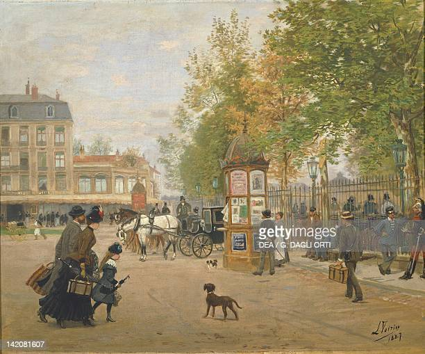 Station Square in Nancy by Jules Voirin France 19th Century