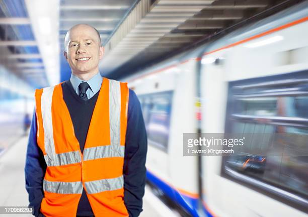 station worker - london underground stock pictures, royalty-free photos & images