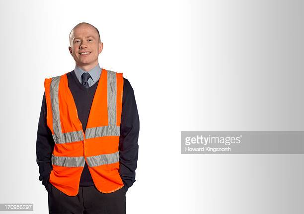 station worker - reflective clothing stock pictures, royalty-free photos & images