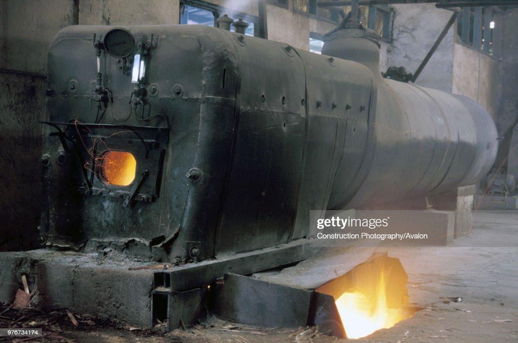Stationary Boiler at AE Saoud Sawmill Ghana on Thursday 20 June 1985 ...