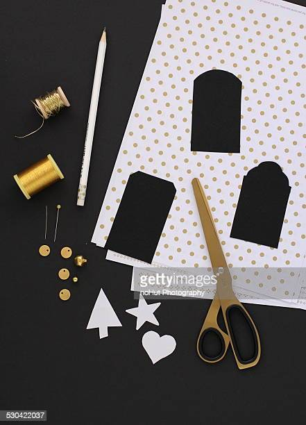 Stationary materials for making gift tag