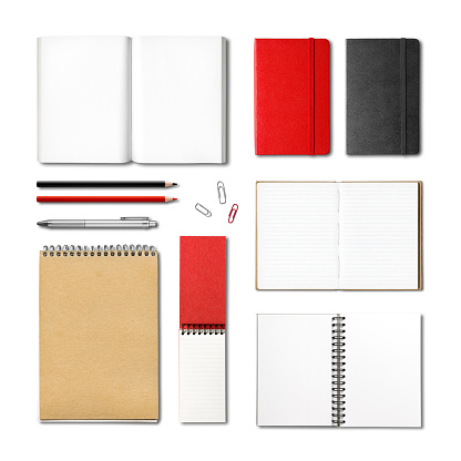 stationery books and notebooks mockup template 920634400