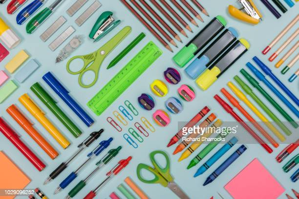 stationery display - office supply stock pictures, royalty-free photos & images