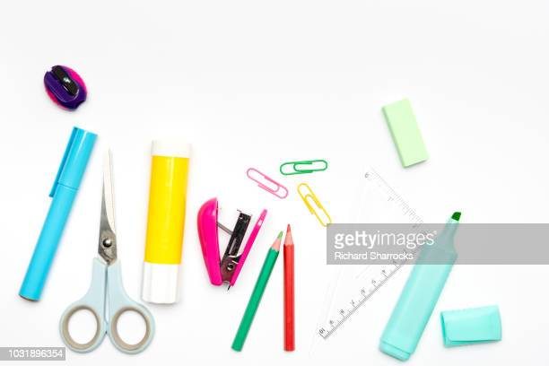 stationery - color pencil stock pictures, royalty-free photos & images