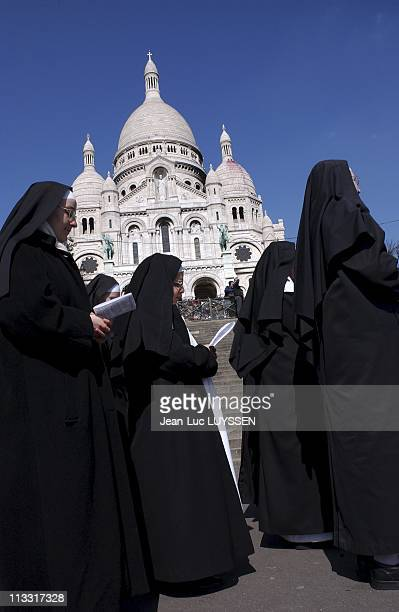 Stations Of The Cross Of Archbishop VingtTrois At The Sacre Coeur On March 25Th 2005 In Paris France