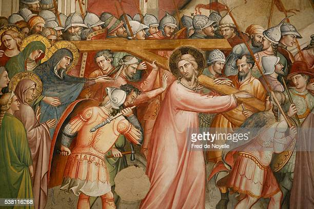 stations of the cross painting - stations of the cross stock pictures, royalty-free photos & images