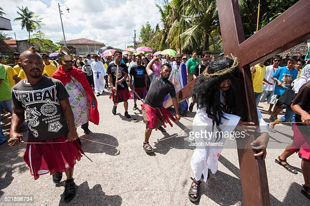 Stations of the cross reenactment on Good Friday