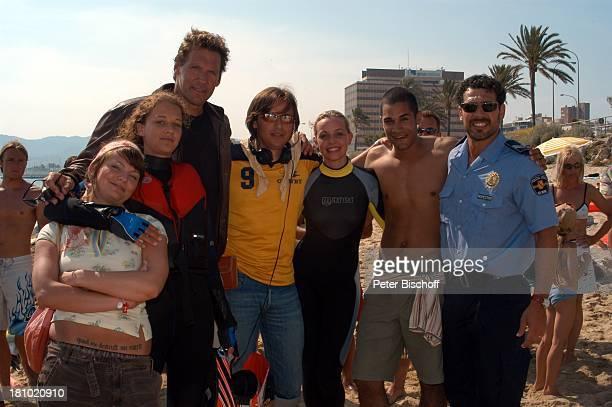 Statistin, Oona Devi Liebich, Ralf Moeller, Jorgo Papavassiliou , Simone Hanselmann, Statist, Gregor Bloeb Mallorca/Balearen/Spanien , 2.6.2003,...