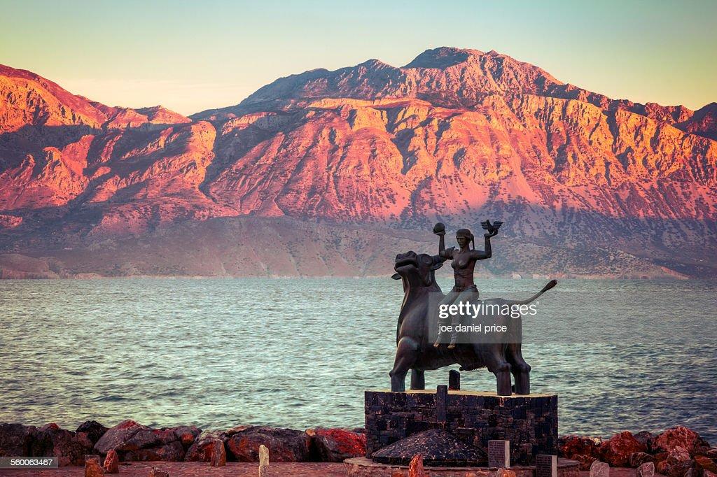 Statue at Agios Nikolaos, Crete, Greece : Stock Photo