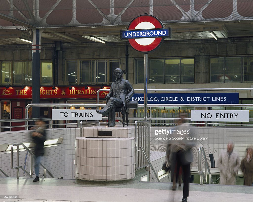 Statue of Isambard Kingdom Brunel, English civil engineer. : News Photo